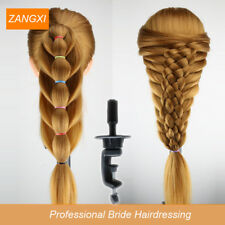 70cm Blonde Long Hair Training Head Professional Bride Hairdressing Mannequin