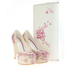 Platforms & Wedges Floral Slim Heels
