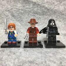 3X Horror Chucky Freddy Scream Ghostface Mini Figure Toy