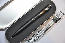 Pentel Philography Energel Roller Pen Black Barrel 0.5 Black Ink + 1 free refill