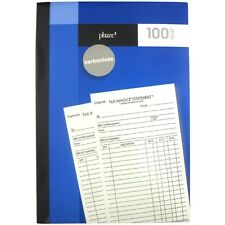 100 Page Carbonless Invoice Book and Statement Fast Free Shipping