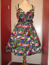 Flamingo Strappy Swing dress size 14-30