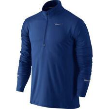 NIKE ELEMENT RUNNING SHIRT 1/4 1/2 ZIP NWT BLUE MEN LARGE LONG SLVE 904946-455