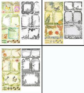 CRAFTY BITZ Cardstock Stickers + Transparencies CHOOSE Various NATURE Designs