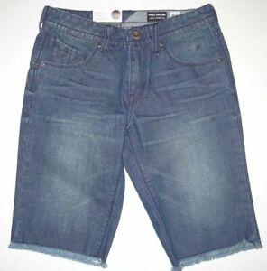 Volcom Boys Big Youth Nova Solver Denim Cut Off Jeans Walk Shorts 26 / 12