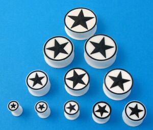 Silicon Flexible Ear Lobe Plug Converse Star Stretcher Soft Body Piercing