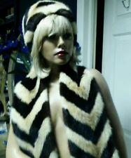 Vintage Mink Art Deco Two Tone Scarf Wrap Stole Corlies Furs Philadelphia