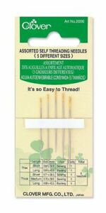 🍀 Clover Assorted Self-Threading Needles (Assorted 5 Pack) Quilting Sewing