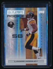 LAMARR WOODLEY 2007 PLAYOFF NFL SILVER HOLOFOIL #163 85/99 PITTSBURGH STEELERS