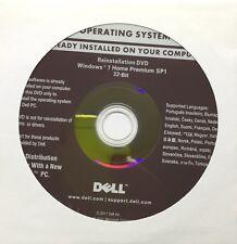 Disco DVD Originale Microsoft Windows 7.1 Home Premium 32bit Dell FULL DVD NUOVO