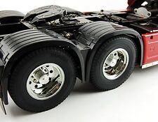 Truck Tamiya Actros MAN Scania Volvo Wheel hub rear axle aluminium 2 pieces 1/14