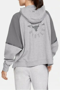 Under Armour x Project Rock Doubleknit OS Hoodie Loose Fit 1332575-035 Sz XL NEW