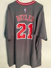 Adidas NBA Jersey Chicago Bulls Jimmy Butler Grey Short Sleeve sz L