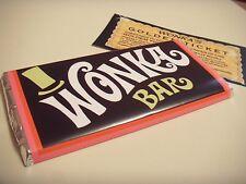 100 X Wonka Bar avec ticket d'or 100 g Grand Barre De Chocolat