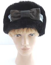 Fredrikson Cossack Fur Leather Suede Hat Finland 58cm Perimeter Bow