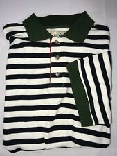 Red Head White and Green Black Striped Medium Cotton Men's Casual Polo Shirt
