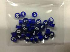 10 grammi murrine in foto murano glass millefiori numeri blu misura 6-7 mm