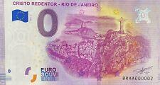 BILLET 0 EURO CRISTO REDENTOR RIO DE JANEIRO  2019-1 TOUT PETIT N° 002