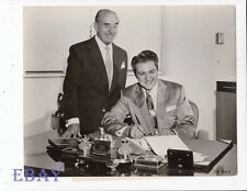 Jack l Warner Liberace candid VINTAGE Ph Liberace signs Sincerely Yours contract