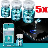 5PCS NANO Liquid Glass Screen Protector Oleophobic Coating Film Universal US LY
