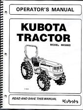 Kubota MX5000 Tractor PLUS Loader Operator's Manuals SET OF 2
