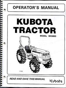 Kubota MX5000 Tractor Operator's Manual TC050-19713