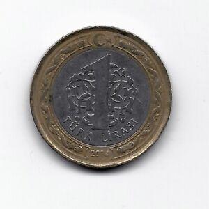 World Coins - Turkey 1 Lirasi 2014 Bi-Metallic Coin KM# 1244