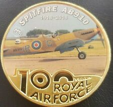 AB910 SPITFIRE FIGHTER 1918-2018 100 Years Royal Air Force Challenge Coin FREE p