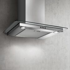 Elica Flat Glass Cooker Hood Wall Mounted - Stainless Steel 60cm