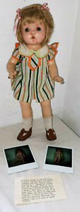 """VINTAGE COMPOSITION DOLL MARKED PETITE 13"""" CAROL ANN BEERY DOLL"""