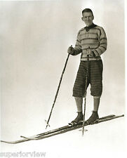 Old Time Ski Clothing Vintage Skier Wool Pants Ski Fashion 1920 Bamboo Poles WOW