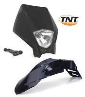 Kit Garde-boue Plaque phare Supermotard Noir KTM NEUF