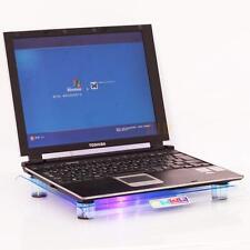 "14"" 15.4"" Laptop USB Powered Big Fan LED Light Cooling Pad Cooler Blue"