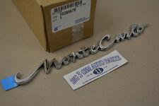 2000-2005 Chevrolet Monte Carlo Rear Trunk Chrome script EMBLEM new OEM 10289679
