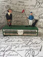VTG Cast Iron Mechanical Bank Golfing Original Golfer Working Great Paint