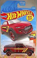 2019 Hot Wheels #28/250 HW Hot Trucks 6/10 2-TUFF Dark Red w/Red BAJA 5 Spokes