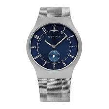 30 m (3 ATM) Analoge Armbanduhren aus Edelstahl mit Atom-/Funkuhr