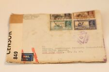 1940 INDIA CALCUTTA REGISTERED MAIL ENVELOPE TO N.Y. CITY CENSOR