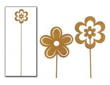 Edelrost Stecker 2 x Blume Dekoration Garten Terrasse 21040 Beetstecker Topfstab