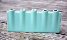 New! Modern Chic Ceramic Bud Vase 5 Bud Holes in Sea Foam Green - Free Shipping