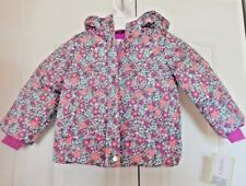 Carters Girls Size 2T Pink & Lavender Print Puffer Winter...