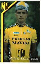 CYCLISME carte cycliste RAFAEL LORENZANA équipe PUERTAS MAVISA