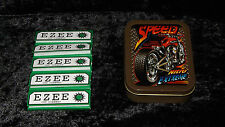 2oz TOBACOO TIN, STASH BOX, SMOKING SET, SPEED, DOUBLE PRINT