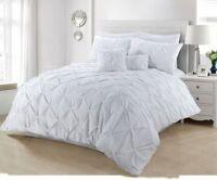 Pintuck White Room Duvet Cover Set Bedding Set Single Double King Super King