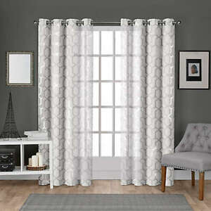 Exclusive Home 2-pack Panza 96-Inch Grommet Top Window Curtains