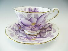 Royal Chelsea Cup & Saucer Orchids 496A