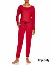 Calvin Klein Lux Lounge Modal Pajama Top Red Large