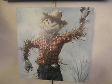 Cowboy Scarecrow by Darren Gygi 14x14 Canvas Giclee Gallery Wrap Autumn Fall Art