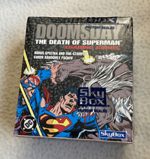 1992 DOOMSDAY DEATH OF SUPERMAN FACTORY SEALED BOX Bonus Spectra and foil stamp