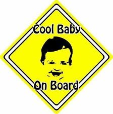 Cool Baby/Child On Board Car Sign ~ Baby Face Silhouette ~ Neon Yellow